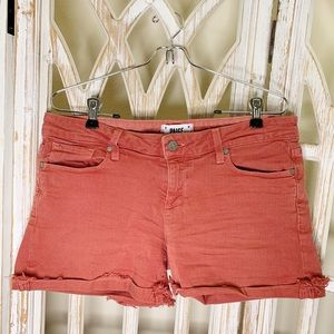Paige jimmy jimmy short size 28 burnt orange